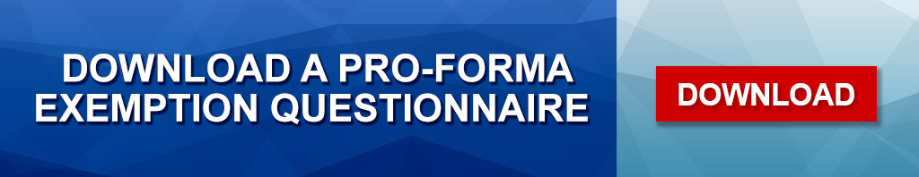 Pro-forma Questionaire Banner